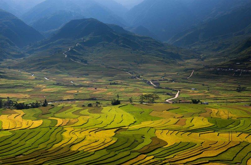 Великолепные рисовые террасы Вьетнама - №8