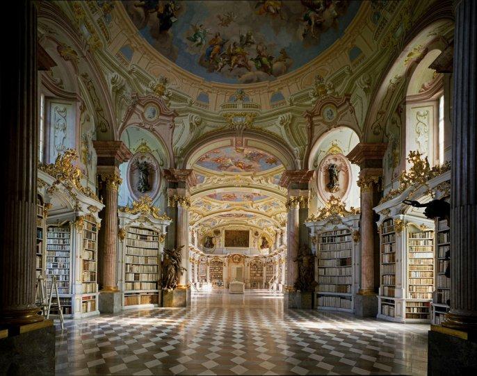 Библиотека аббатства Адмонт. Адмонт, Австрия.