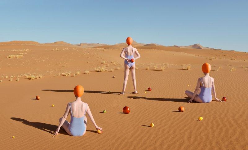 Фотосерия «Еда делает сюрреалистичные вещи в пустыне» - №2
