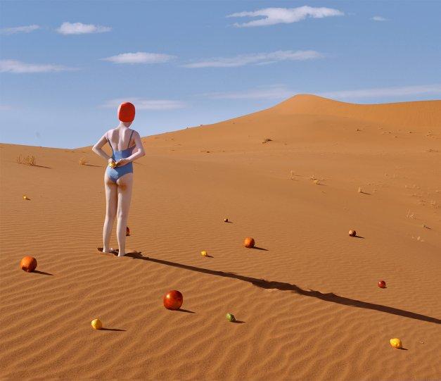 Фотосерия «Еда делает сюрреалистичные вещи в пустыне» - №13