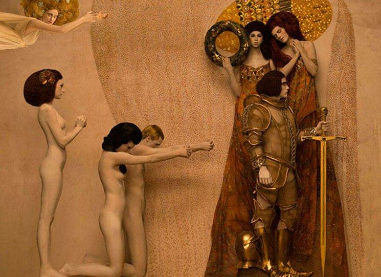 Модели воссоздают картины Гюстава Климта - №8