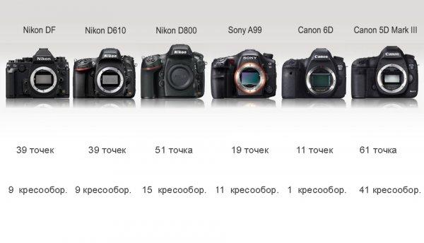 Сравнение новинок профессиональных зеркальных фото камер - №6