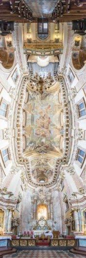 Головокружительные вертикальные фото панорамы церквей - №1