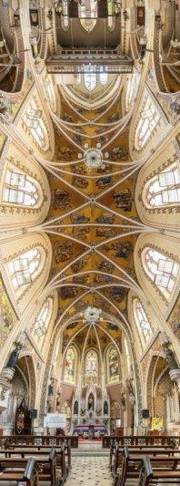 Головокружительные вертикальные фото панорамы церквей - №5