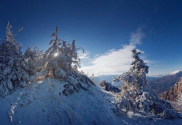 Зимние фото пейзажи из Крыма - №20