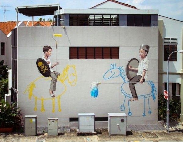 Новости в фотографиях - Лучшая подборка стрит-арт 2013 - №20