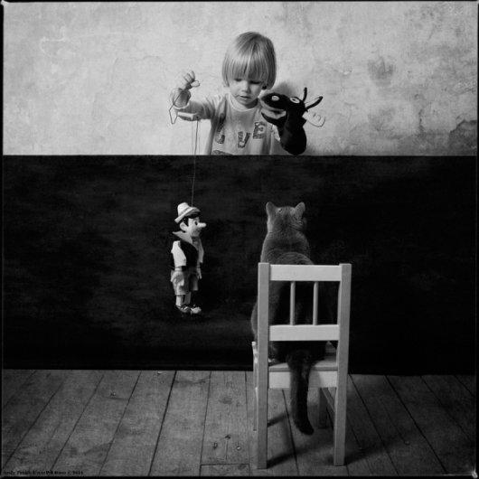 Девочка и Кот в интересном фото проекте - №13