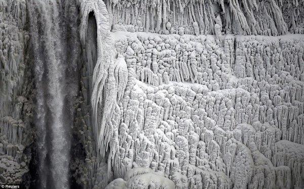 замерз Ниагарский водопад 2