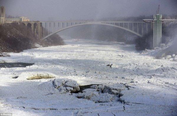 замерз Ниагарский водопад 6