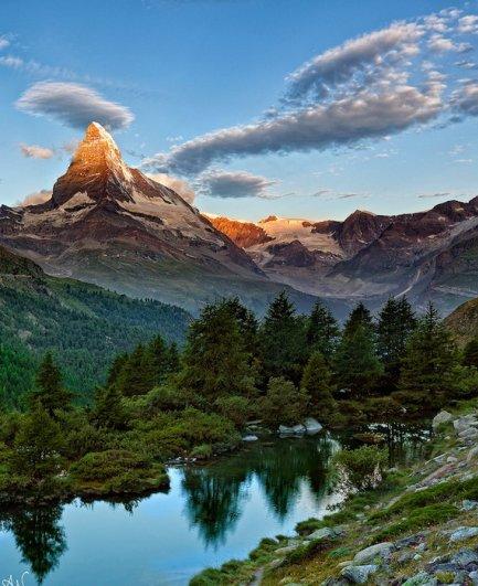 Лучшие фото Альпийских гор Маттерхорн - №3