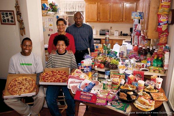 Недельный набор продуктов у разных народов в семейных фото - №7