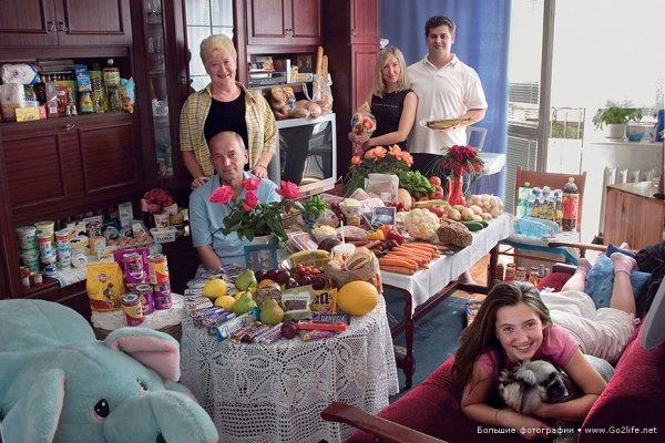 Недельный набор продуктов у разных народов в семейных фото - №19