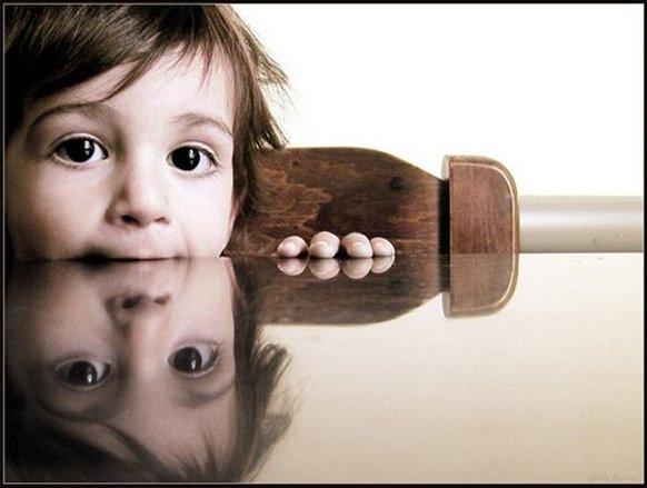 в зеркальном отражении