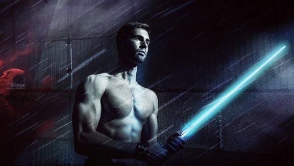 Вариант меча из звездных войн и темы джедая