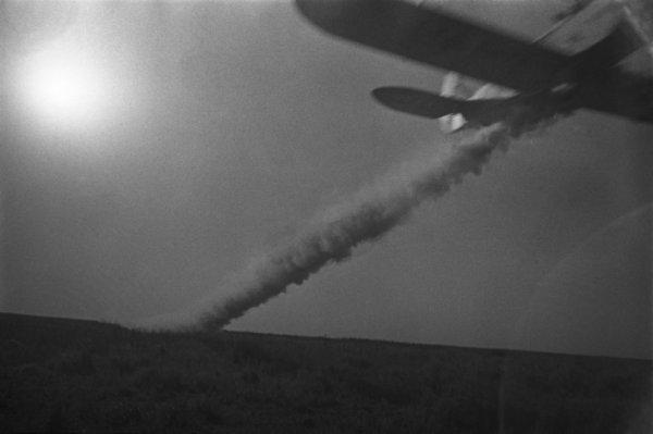 Аркадий Шайхет. Опыление полей. 1930-е. Серебряно-желатиновый отпечаток