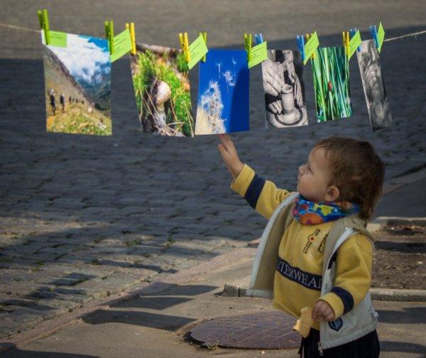 Сыночек оценивает мамино творчество