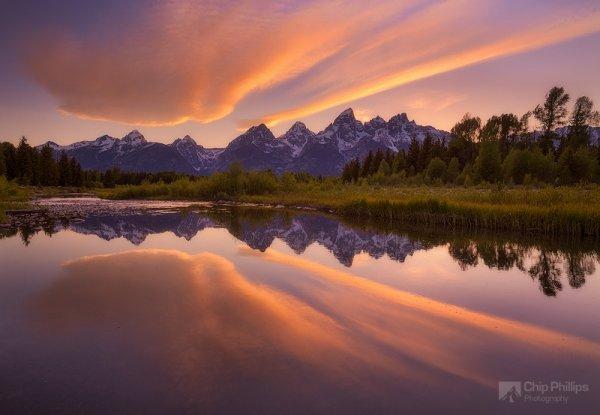 Красота природы - Отражение облака