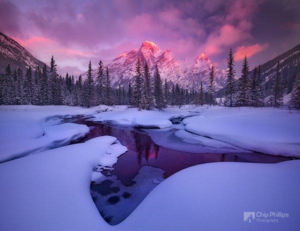 красота природы фото - Гора Кидд, зимнее отражение
